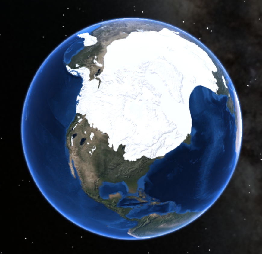 Extent of Laurentide Ice Sheet over North America. Photo: NPS Natural Resources, Creative Commons