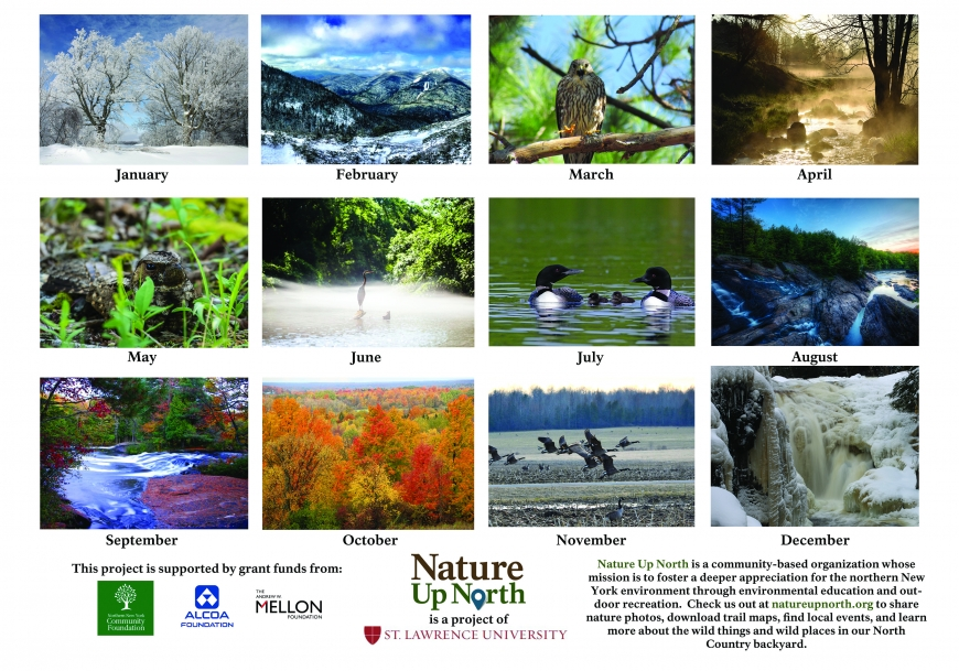 2017 Nature Up North Calendar Back Cover