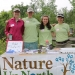 Nature Up North summer interns Jess, Maggie, and Alyssa with Project Manager Emlyn Crocker at Indian Creek Nature Center's Conservation Field Day.